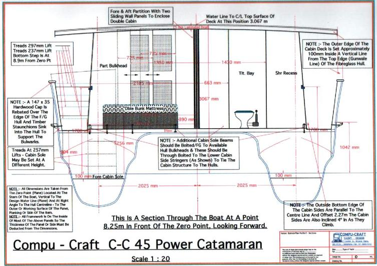 C-C 45 Power Catamaran Section A